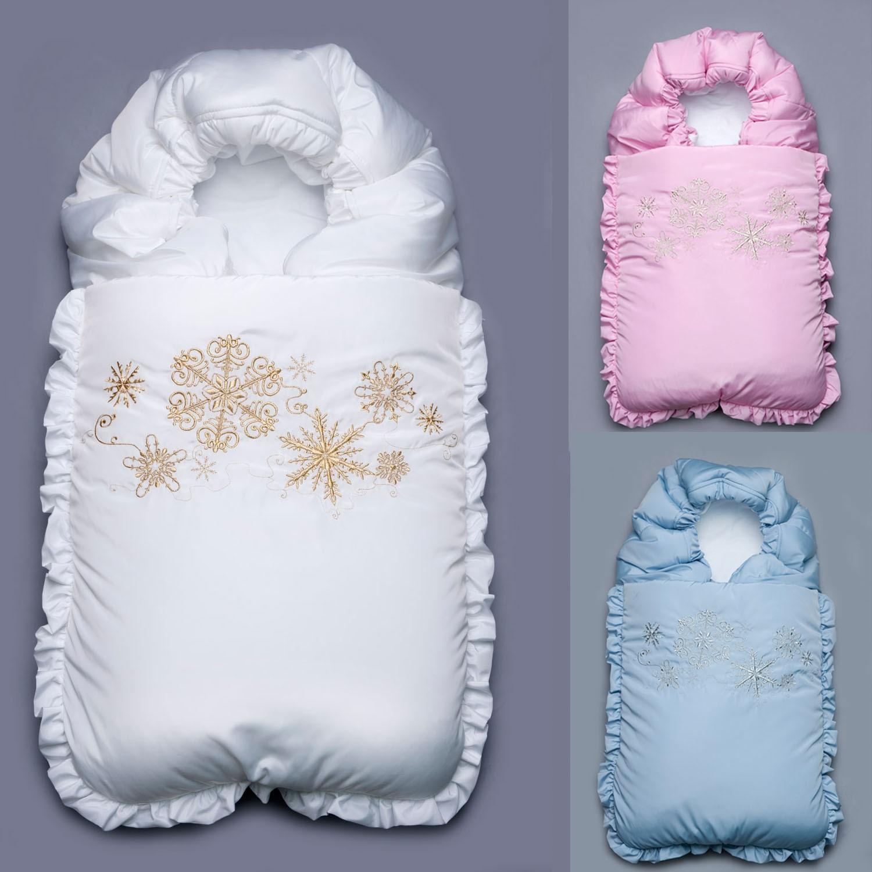 Зимний конверт для новорожденных своими руками